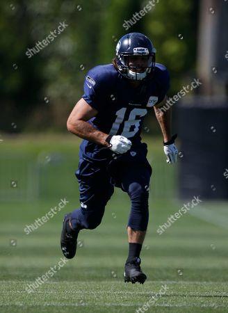 Stock Image of Brett Swain Seattle Seahawks' wide receiver Brett Swain runs during NFL football training camp, in Renton, Wash