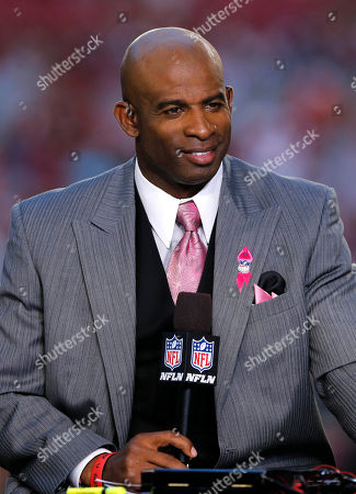 Dion Sanders NFL Network Thursday Night Football live analyst Dion Sanders speaks during a NFL football game against the Arizona Cardinals and the Seattle Seahawks, in Glendale, Ariz