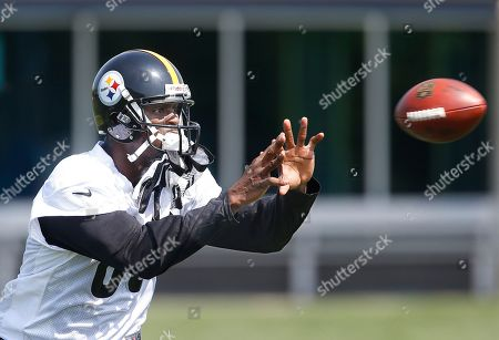 Plaxico Burress Pittsburgh Steelers wide receiver Plaxico Burress (80) makes a catch during drills at an NFL football practice at the team headquarters in Pittsburgh