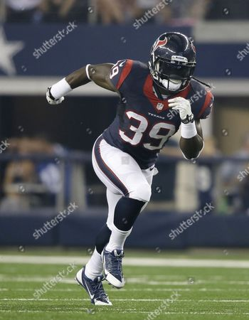 Deji Karim Houston Texans running back Deji Karim (39) runs during the first half of a preseason NFL football game, in Arlington, Texas