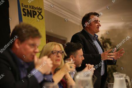 Chris McEleny, Linda Fabiani MSP (East Kilbride), Alyn Smith MEP and Tommy Sheppard MP