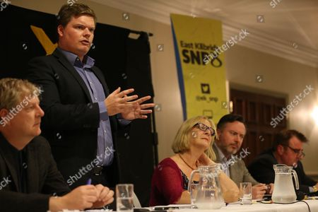 Angus Robertson MP, Chris McEleny, Linda Fabiani MSP (East Kilbride), Alyn Smith MEP and Tommy Sheppard MP