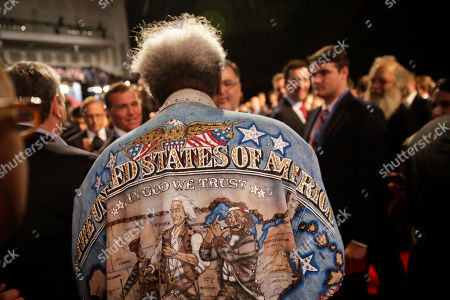 Boxing promoter Don King walks through the audience before the presidential debate between Democratic presidential nominee Hillary Clinton and Republican presidential nominee Donald Trump at Hofstra University in Hempstead, N.Y