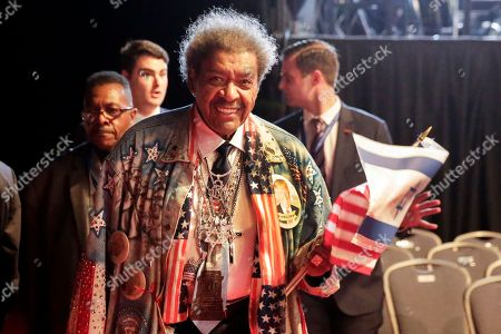 Don King Boxing promoter Don King arrives for the presidential debate between Republican presidential nominee Donald Trump and Democratic presidential nominee Hillary Clinton at Hofstra University in Hempstead, N.Y