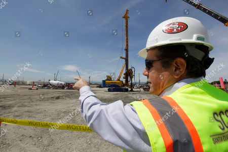 Jack Hill San Francisco 49ers project executive Jack Hill points to the location of the 50-yard line during construction of the new 49ers NFL football stadium in Santa Clara, Calif., . There are currently around 250 workers building the stadium in hopes of completing it by 2014