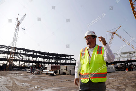 New Santa Clara Stadium, Jack Hill Project executive Jack Hill stands where the south end zone will be located at the New Santa Clara Stadium, the future home for NFL football's San Francisco 49ers, in Santa Clara, Calif