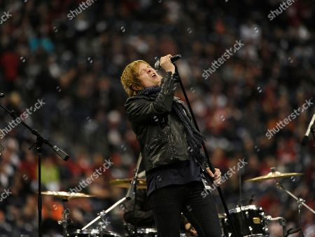Terry McDermott The Voice finalist Terry McDermott performs during halftime of an NFL wild card playoff football game between the Houston Texans and the Cincinnati Bengals, in Houston