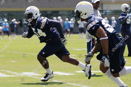 Melvin Ingram, Antwan Barnes San Diego Chargers rookie linebacker Melvin Ingram, left, trains alongside linebacker Antwan Barnes during an NFL football OTA, in San Diego