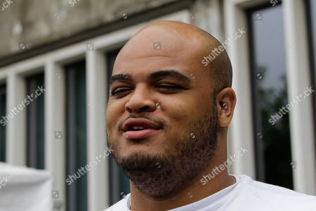 James Brewer New York Giants offensive tackle James Brewer talks to reporters at the New York Giants football training camp in Albany, N.Y