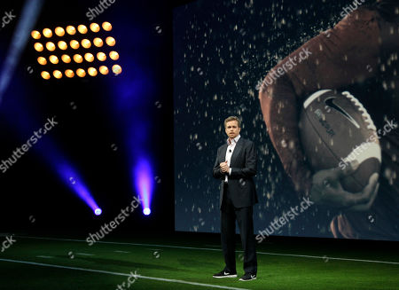 Mark Parker Nike CEO Mark Parker speaks during a presentation in New York, . NFL has unveiled its new sleek uniforms designed by Nike. They showed off the new look in grand style Tuesday with a gridiron-styled fashion show at a Brooklyn film studio