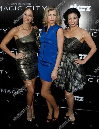 "Ellen Hollman, Viva Bianca, Katrina Law Ellen Hollman, left, Viva Bianca, center, and Katrina Law pose together at the premiere ""Magic City"" in Los Angeles, . ""Magic City"" premieres April 6 on Starz"