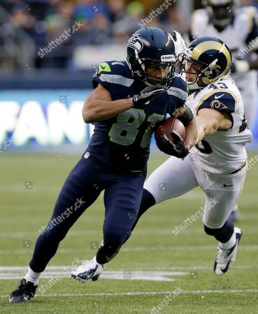 Golden Tate, Craig Dahl Seattle Seahawks wide receiver Golden Tate (81) runs the ball ahead of St. Louis Rams strong safety Craig Dahl, right, during the second half of an NFL football game, in Seattle. The Seahawks defeated the Rams, 20-13
