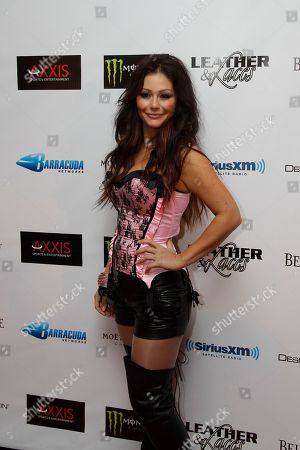 """Stock Picture of Jennifer """"Jwow"""" Farley Jennifer """"Jwow"""" Farley arrives for the annual Leather and Laces event during Super Bowl XLVI festivities, in Indianapolis. The New England Patriots are scheduled to face the New York Giants in NFL football's Super Bowl on Feb. 5"""
