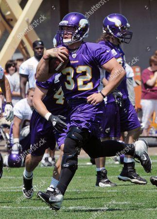 AJ Love Minnesota Vikings NFL football running back Toby Gerhart is shown during offseason training, in Eden Prairie, Minn