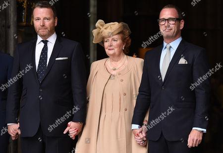 Stock Image of Helen Joyce (Terry's widow) and family