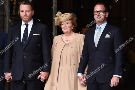 Helen Joyce (Terry's widow) and sons