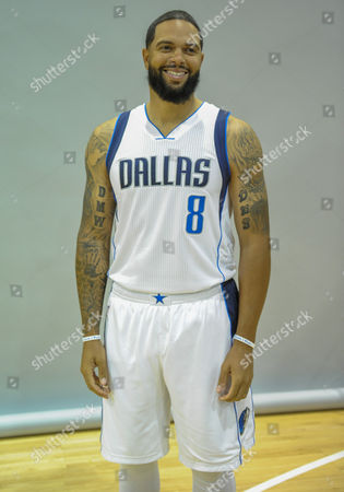 Dallas Mavericks guard Deron Williams #8 poses during the Dallas Mavericks Media Day held at the American Airlines Center in Dallas, TX