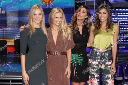 Irene Cioni, Michelle Hunziker, Belen Rodriguez and Ludovica Frasca