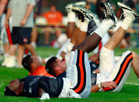 Jimmy Young Chicago Bears wide receiver Jimmy Young stretches during NFL football training camp, at Olivet Nazarene University in Bourbonnais, Ill