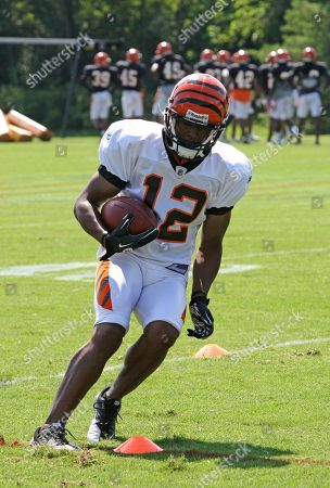 Quan Cosby Cincinnati Bengals wide receiver Quan Cosby in action during practice at NFL football training camp, in Georgetown, Ky