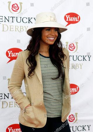 Singer Jordan Sparks arrives the 137th Kentucky Derby horse race at Churchill Downs, in Louisville, Ky