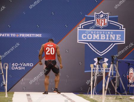 Editorial picture of NFL Combine Football, Indianapolis, USA