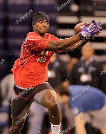 Jimmy Young Texas Christian wide receiver Jimmy Young during a drill at the NFL football scouting combine in Indianapolis