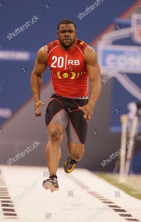 Stock Picture of Mark Ingram West Virginia running back Noel Devine runs the 40-yard dash during the NFL football scouting combine in Indianapolis