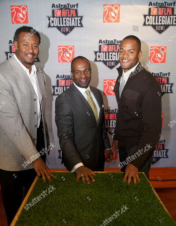 Stock Picture of Willie McGinest, DeMaurice Smith, Matthew Hatchette DeMaurice Smith, center, executive director of the NFL Players Association, stands with NFL veterans Willie McGinest, left, and Matthew Hatchette in Carson, Calif., . They announced the AstroTurf NFLPA Collegiate Bowl, to be held Jan. 21, 2012, which will feature 100 top collegiate football players