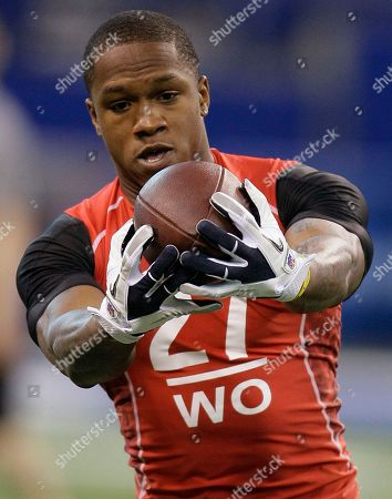 Stock Picture of OJ Murdock FILE - This fikle photo shows Fort Hays State wide receiver O.J. Murdock running a drill during the NFL football scouting combine in Indianapolis. Police say a Tennessee Titans player has died of an apparent suicide. Tampa police spokeswoman Andrea Davis says officers found 25-year-old O.J. Murdock inside his car Monday morning, July 30, 2012, with what appeared to be self-inflicted gunshot wounds. The car was parked in front of Middleton High School, where Murdock attended school. Murdock started his college career at South Carolina but left the school and played for two years at Fort Hays State. He was signed by the Titans as an undrafted free agent a year ago, and spent the entire 2011 season on injured reserve