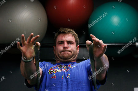 Todd Herremans In this photograph taken, Philadelphia Eagles offensive lineman Todd Herremans works out at Power Train Sports Institute in Cherry Hill, N..J. Trainer Steve Saunders, founder and CEO of Power Train, and his staff make simple exercises a grueling task for their clients, which include a lengthy list of NFL players