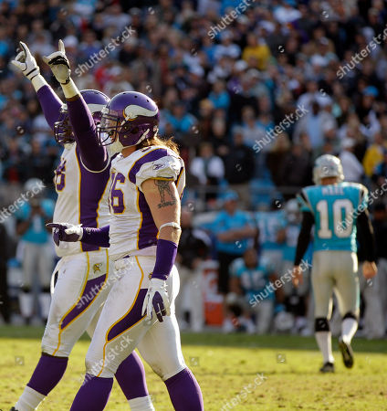 Olindo Mare Minnesota Vikings players, including Brian Robison, foreground, celebrate as Carolina Panthers' Olindo Mare (10) walks off the field after missing a field goal in the closing minute of the fourth quarter of Vikings' 24-21 win in an NFL football game in Charlotte, N.C