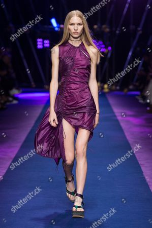 Editorial picture of Versace show, Runway, Spring Summer 2017, Milan Fashion Week, Italy - 23 Sep 2016