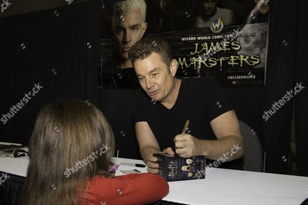 Actor James Marsters who is best known for playing Spike in the television series Buffy the Vampire Slayer appears