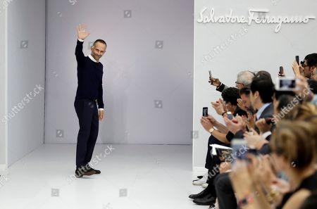 Editorial photo of Salvatore Ferragamo show, Runway, Spring Summer 2017, Milan Fashion Week, Italy - 25 Sep 2016