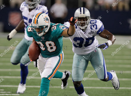 Editorial picture of Dolphins Cowboys Football, Arlington, USA