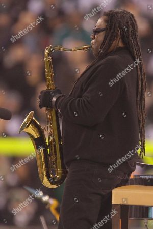 Clarence Clemons Musical artist Clarence Clemons performs the National Anthem before an NFL football game between the Miami Dolphins and the New York Jets at New Meadowlands Stadium, in East Rutherford, N.J