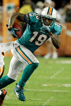 Editorial photo of Dolphins Marshall Football, Miami, USA