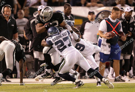 Editorial image of Seahawks Raiders Football, Oakland, USA