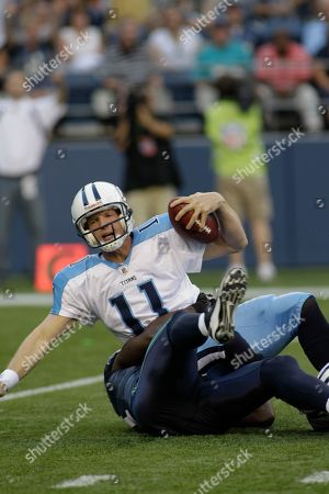 Chris Simms Tennessee Titans quarter back Chris Simms is sacked in the first half of an NFL preseason game against the Seattle Seahawks, in Seattle