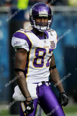 Bernard Berrian Minnesota Vikings wide receiver Bernard Berrian (87) is seen on the field during warm-ups before an NFL football game against the Chicago Bears in Chicago