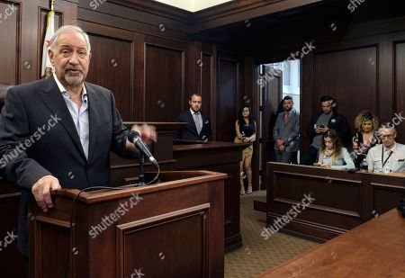 Mark Geragos Singer Chris Brown's attorney Mark Geragos talks to the media during a news conference on in downtown Los Angeles. Geragos insisted that no guns or drugs were found in the singer's home when it was searched by police in response to a report he pointed a gun at a woman