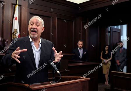 Mark Geragos This photo singer Chris Brown's attorney Mark Geragos talks to the media during a news conference in downtown Los Angeles. Geragos insisted that no guns or drugs were found in the singer's home when it was searched by police in response to a report he pointed a gun at a woman