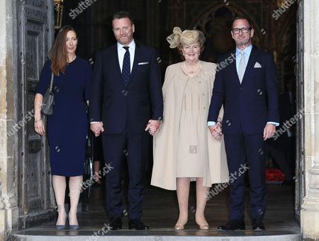Helen Joyce (Terry's widow) and family