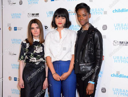 Shirley Henderson, Isabella Laughland and Letitia Wright