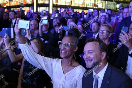 Stock Picture of Carla Hall, Clinton Kelly