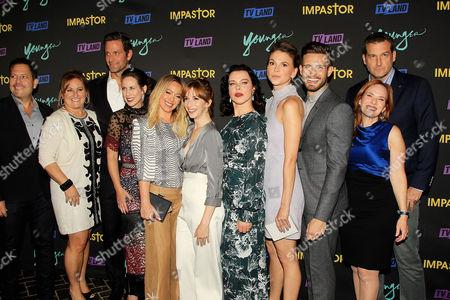 "Keith Cox, Kim Rosenblum, Cyma Zarghami, Darren Star with Cast of ""Younger"""