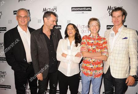 L-R: Fred Fuchs, Barnet Bain, Michelle Rodriguez, Percy Hynes White, Sean Buckley