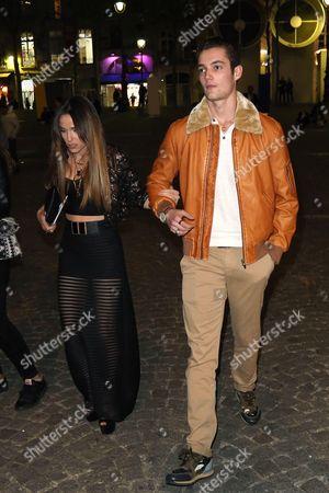 Stock Image of Louis Sarkozy and girlfriend Capucine Anav