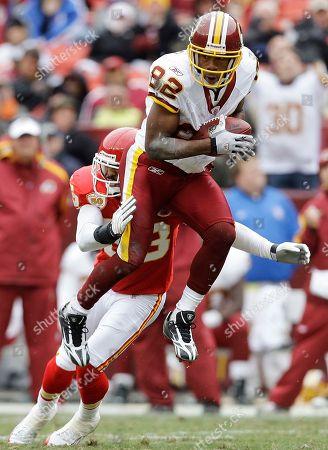 Mike Richardson, Antwaan Randle El Kansas City Chiefs cornerback Mike Richardson stops Washington Redskins wide receiver Antwaan Randle El during the NFL football, in Landover, Md
